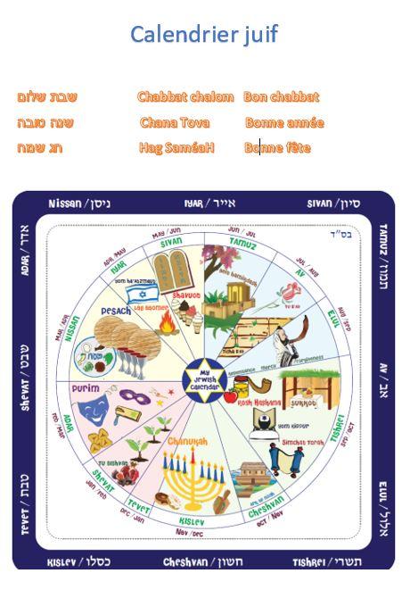 Calendrier Hebraique 5778.Erev Shel Yeladim Floriane Chinsky